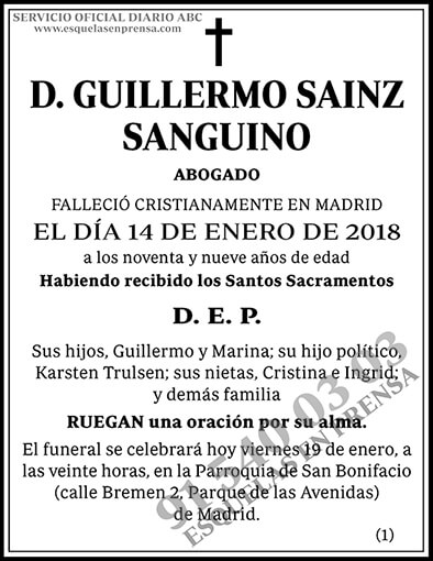 Guillermo Sainz Sanguino